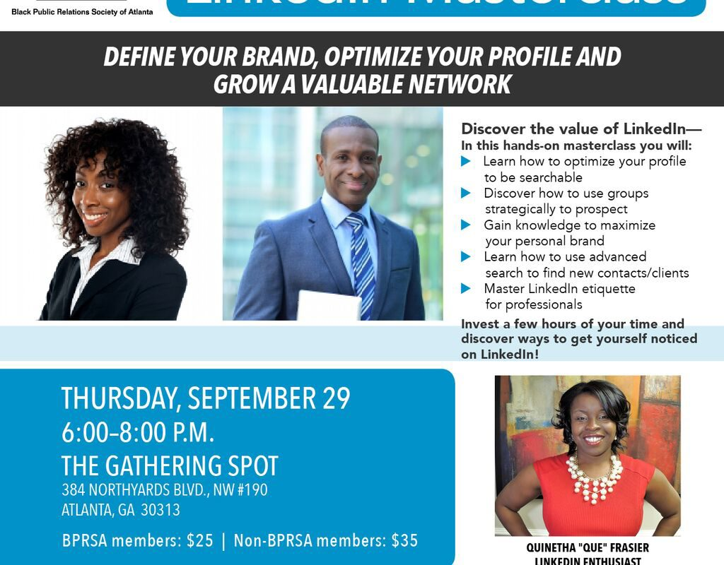LinkedIn MasterClass, Sept. 29 @ The Gathering Spot